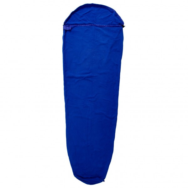 Origin Outdoors - Fleece Schlafsack Mumienform - Reiseschlafsack Gr Mumienform Blau/Lila 310880