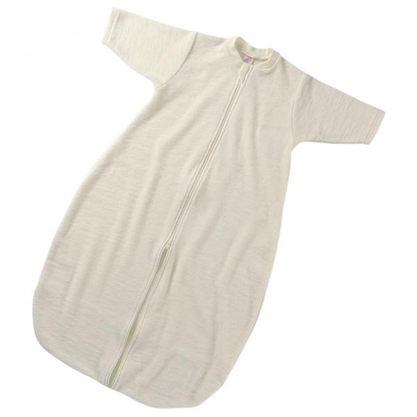 Engel - Baby-Schlafsack L/S mit Reißverschluss - Kinderschlafsack Gr 62/68 Weiß/Grau 506010