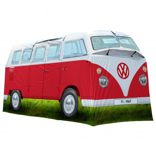 VW Collection - VW T1 Bus Grosses Campingzelt - 4-Personen Zelt Gr 398 x 187 x 157 cm grau/blau/oliv;grau/rot/oliv OL0179-BL