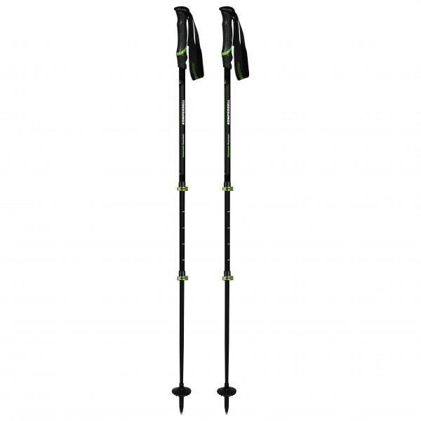Komperdell - Hikemaster Powerlock - Trekkingstöcke Gr 105 - 140 cm schwarz/grün