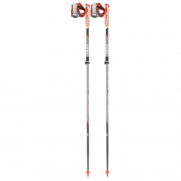 Leki - Micro Trail Vario - Trailrunning Stöcke Gr 100-120 cm grau/ neonrot 6492674