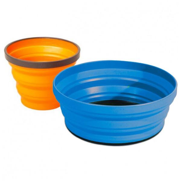 Sea to Summit - X-Set (2-teilig) - Geschirrset Gr One Size blau/orange AXSET2