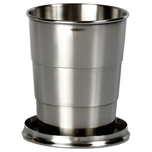 Basic Nature - Ausziehbarer Becher Gr 140 ml;57 ml grau/schwarz 181500