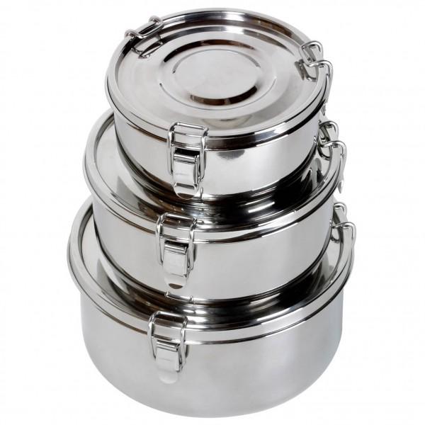 Basic Nature - Edelstahl Food Container - Essensaufbewahrung Gr 0,8 l grau/schwarz 555202