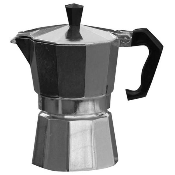 Basic Nature - Espresso Maker Bellanapoli - Espresso-Kocher Gr 3 Tassen;6 Tassen;9 Tassen grau/schwarz 633006