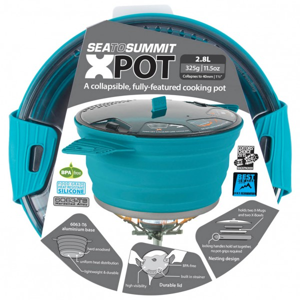 Sea to Summit - X-Pot - Topf Gr 1,4 Liter;4,0 l rosa/grau/rot;grau/orange AXPOT4.0RD