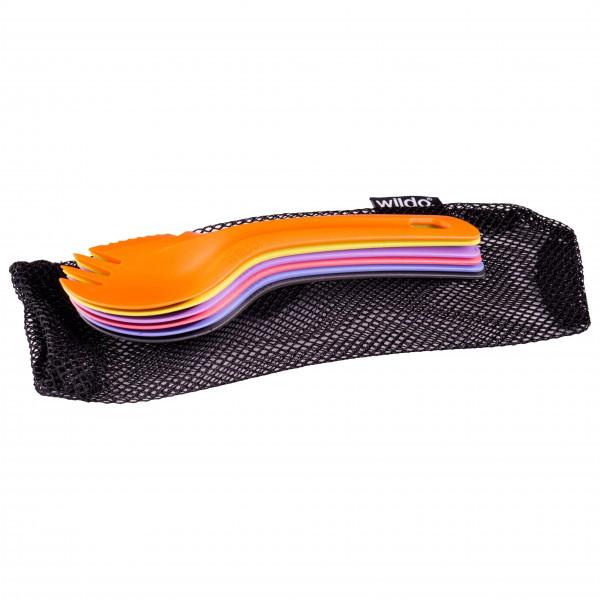 Wildo - Spork Set - Besteck Gr 6-Pack Mixed schwarz/orange SPORKSET73131