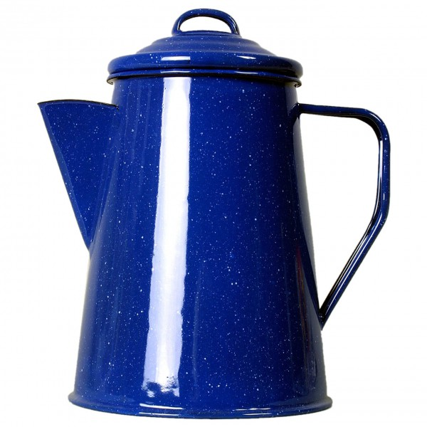 Basic Nature - Emaille Kaffeekanne - Topf Gr 1 l;1,8 L blau 630201