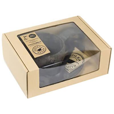 Kupilka - Geschenkset - Tasse, Untersetzer, Löffel beige/grau 024650