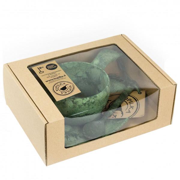 Kupilka - Geschenkset - Tasse, Untersetzer, Löffel beige/grau 024750