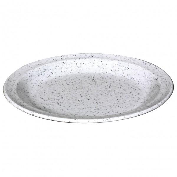 Waca - Melamin Kuchenteller - Geschirr Gr 19,5 cm grau/weiß 391400