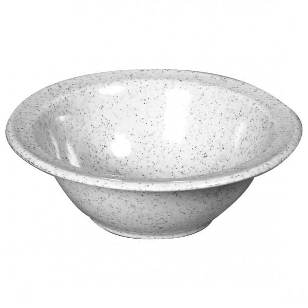Waca - Melamin Schüssel klein - Geschirr Gr 16,5 cm grau/weiß 391700