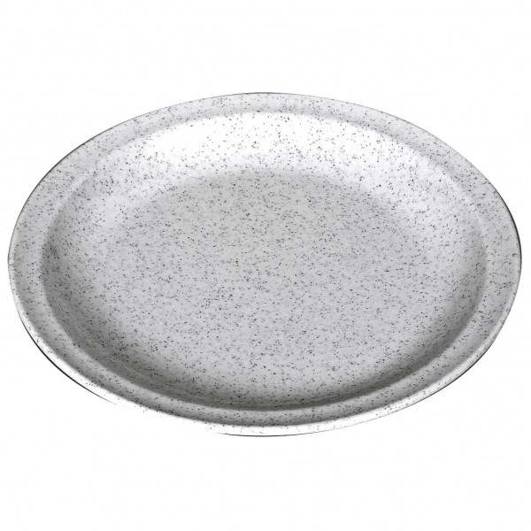 Waca - Melamin Teller flach - Geschirr Gr 23,5 cm grau 391600