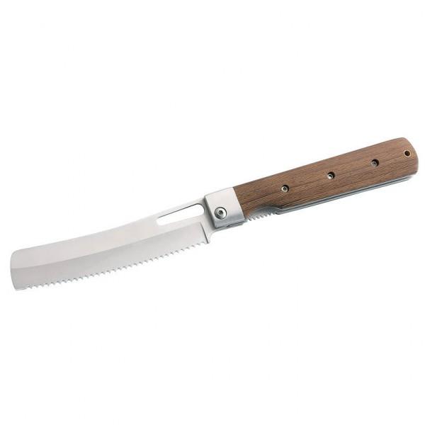 Herbertz - Camping-Brotmesser mit Sägezahnung Gr 11,2 cm grau/braun Preisvergleich