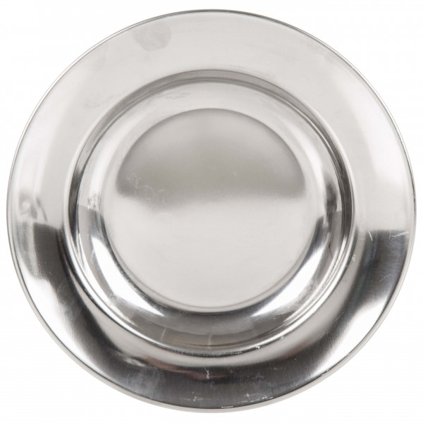Lifeventure - Stainless Steel Camping Plate metallic