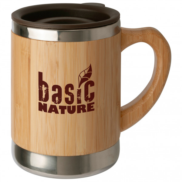Basic Nature - Edelstahlbecher ''Bambus'' - Tasse Gr 0,3 l braun/beige 562023
