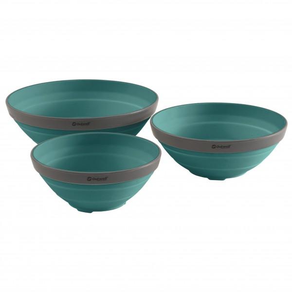 Outwell - Collaps Bowl Set - Geschirr-Set türkis 650680
