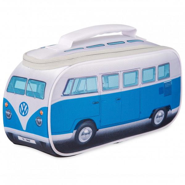 VW Collection - VW T1 Bus Brotzeittasche - Essensaufbewahrung Gr 30 x 15 x 12 cm grau/blau OL0175-BL