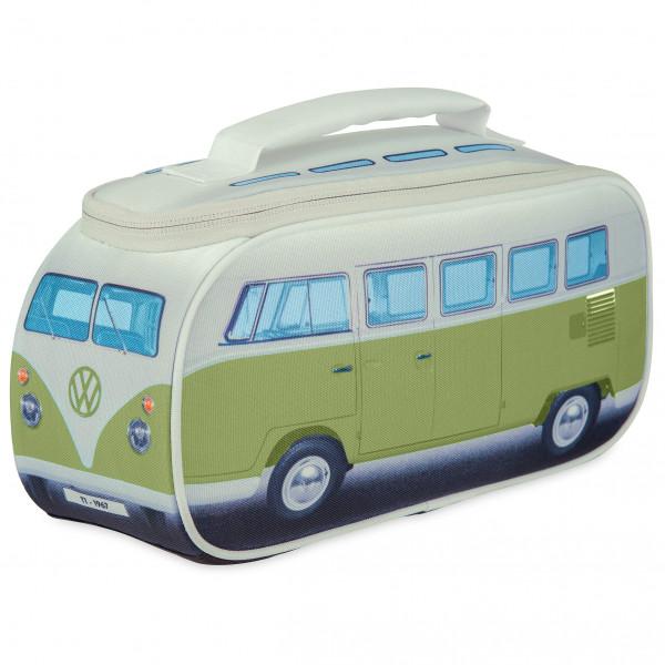 VW Collection - VW T1 Bus Brotzeittasche - Essensaufbewahrung Gr 30 x 15 x 12 cm grau/grün OL0175-GN