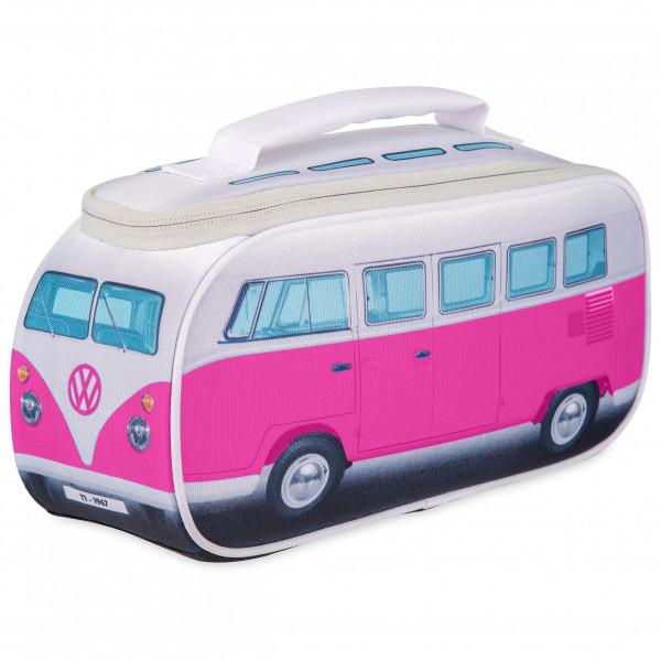 VW Collection - VW T1 Bus Brotzeittasche - Essensaufbewahrung Gr 30 x 15 x 12 cm grau/rosa OL0175-PK