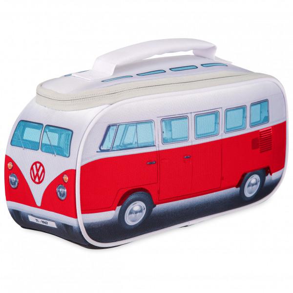 VW Collection - VW T1 Bus Brotzeittasche - Essensaufbewahrung Gr 30 x 15 x 12 cm grau/rot OL0175-RD