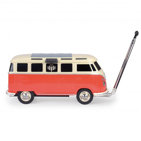 VW Collection - VW T1 Bus Fahrbare Kühlbox - Kühlbox Gr 84 x 46 x 38 cm rot/grau/weiß/schwarz OL0188