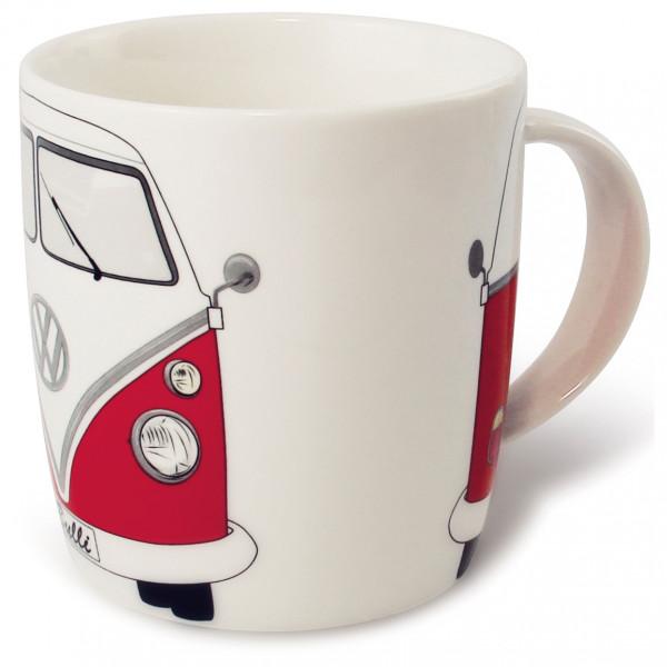 VW Collection - VW T1 Bus Kaffeetasse Gr 370 ml weiß/grau BUTA01