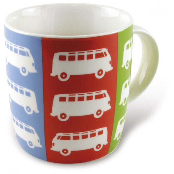 VW Collection - VW T1 Bus Kaffeetasse Gr 370 ml grau/rot/weiß BUTA05
