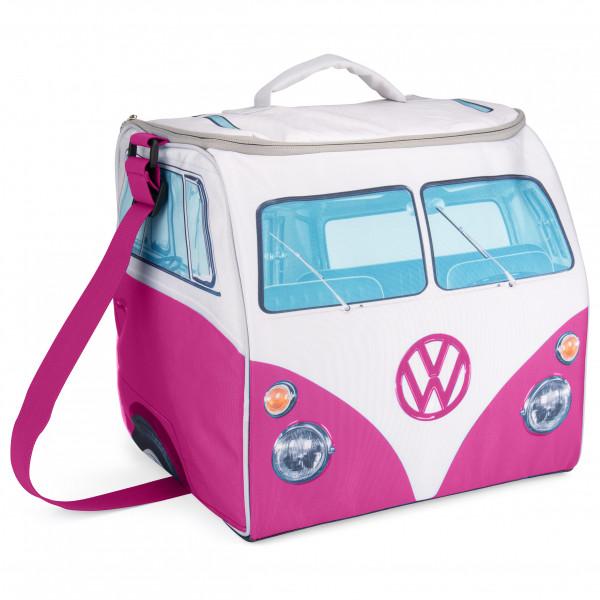 VW Collection - VW T1 Bus Kühltasche - Kühlbox Gr 30 x 30 x 30 cm rosa/weiß/grau OL0185-PK