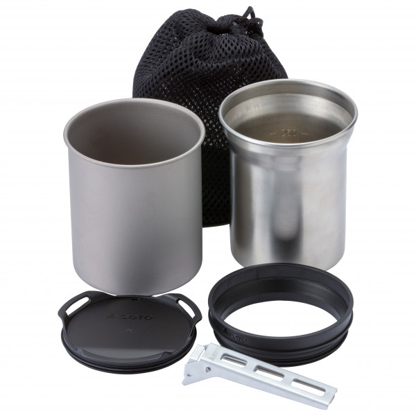 Soto - Thermostack - Topf Gr 350 + 400 ml grau/schwarz OD-TSK