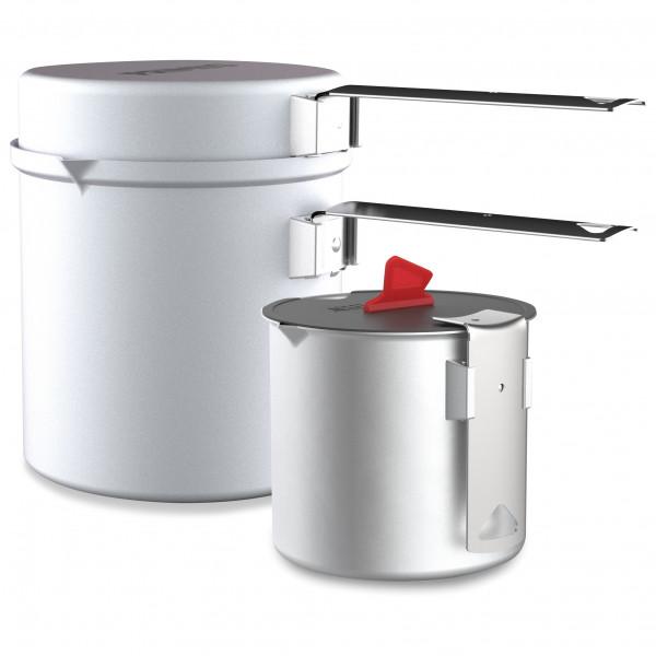 Primus - Essential Trek Pot Set - Topf Gr 0,6 + 1 l grau/weiß P741450
