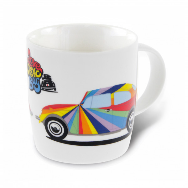 VW Collection - VW Käfer Kaffeetasse in Geschenkbox Gr 370 ml grau/weiß BETA02
