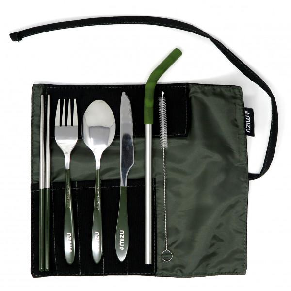 Mizu - Urban Cutlery Set Black/olive/grey