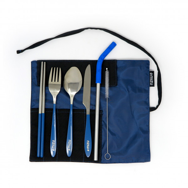 Mizu - Urban Cutlery Set Blue/white/black/grey