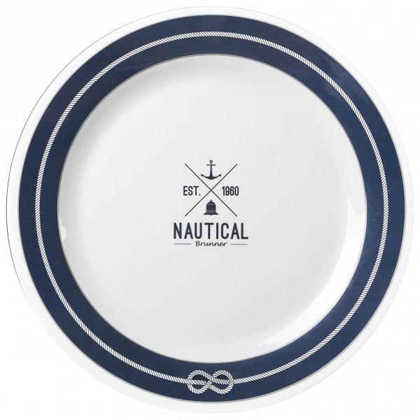 Brunner - Essteller - Dinner plate - Teller Gr ø 25 cm weiß/grau/blau 0830025N.C8S