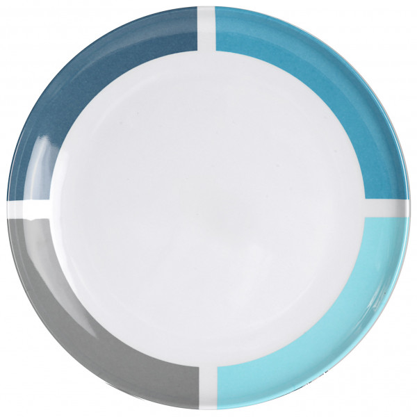 Brunner - Essteller - Dinner plate - Teller Gr ø 25 cm weiß/grau 0830025N.C1A