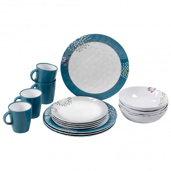 Brunner - Lunch Box - Geschirr-Set Gr 16 Pieces grau/blau 0830155N.C6F