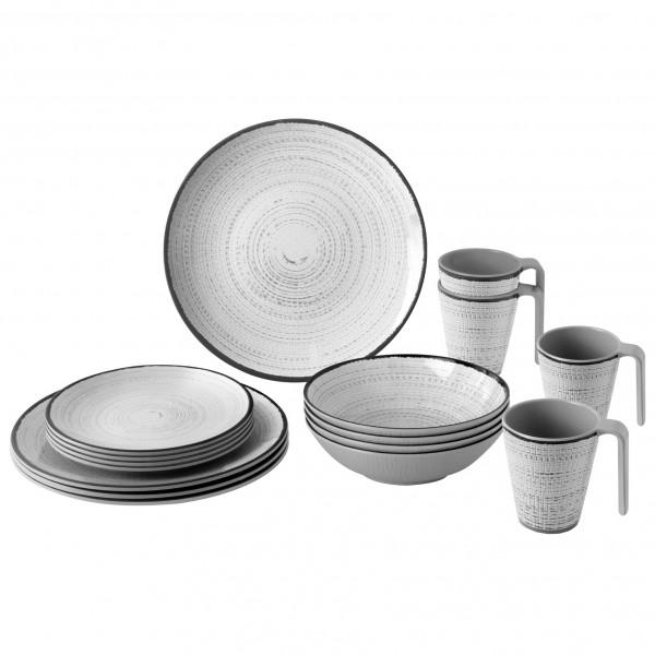 Brunner - Lunch Box - Geschirr-Set Gr 16 Pieces grau 0830155N.C7X