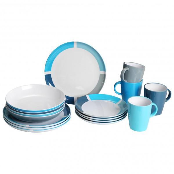 Brunner - Lunch Box - Geschirr-Set Gr 16 Pieces grau/weiß/schwarz;grau/blau;grau 0830155N.C3H