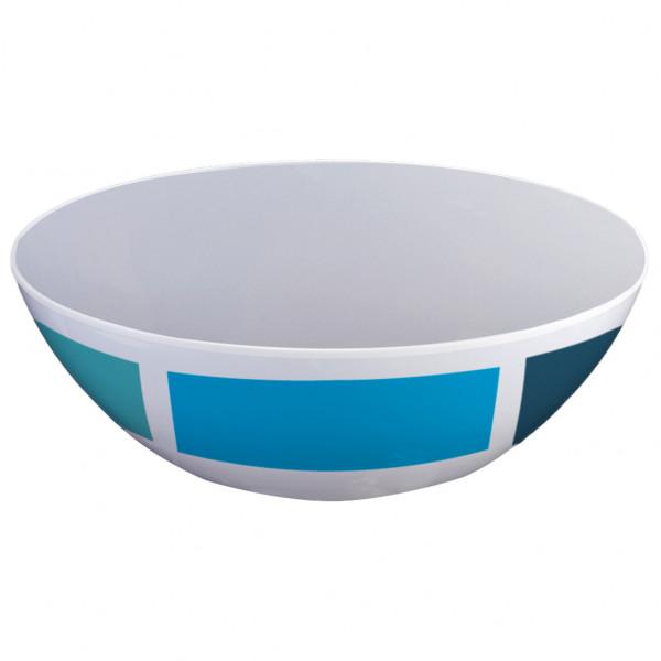 Brunner - Salatschüsssel - Salad Bowl - Schüssel Gr ø 24 cm grau/blau 0830030N.C1A