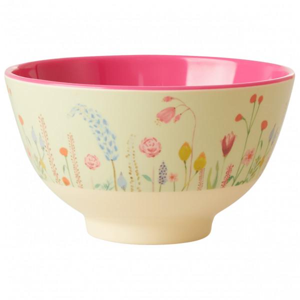 Rice - Melamine Bowl - Bowl Size Small  Sand/white/pink