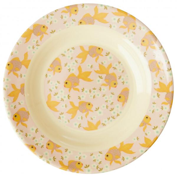 Rice - Melamine Kids Bowl - Teller beige/weiß KIBOW-GOFI