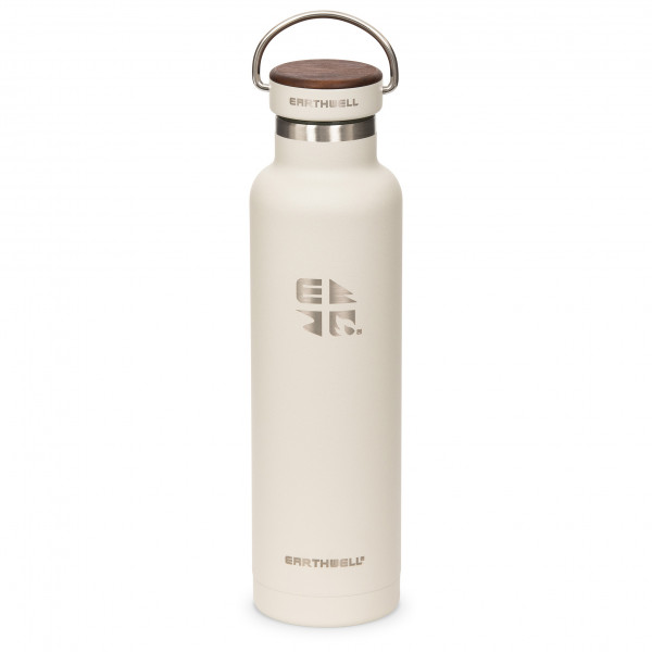 #Earthwell – Woodie Walnut Cap Iso – Isolierflasche Gr 650 ml weiß#