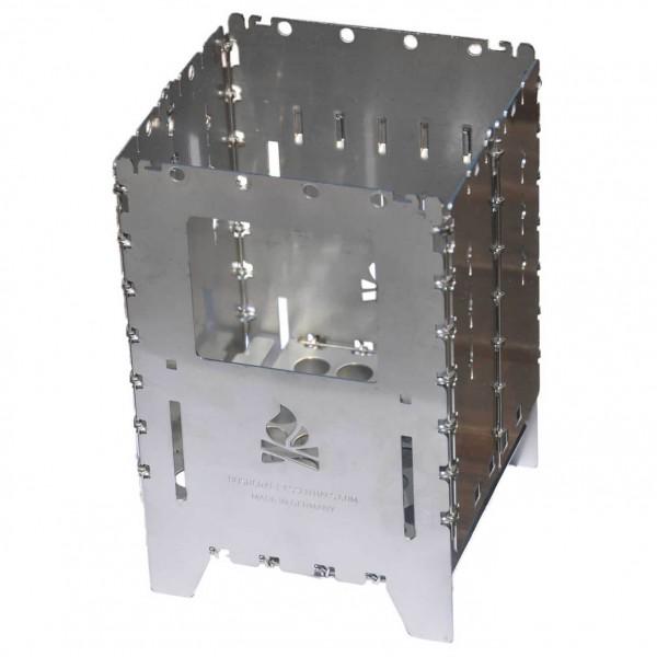 Bushcraft Essentials - Bushbox XL - Trockenbrennstoffkocher metallic