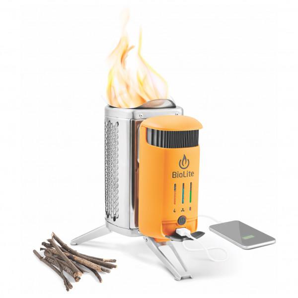Biolite - Campstove 2+ - Solid Fuel Stoves Stainless Steel /orange