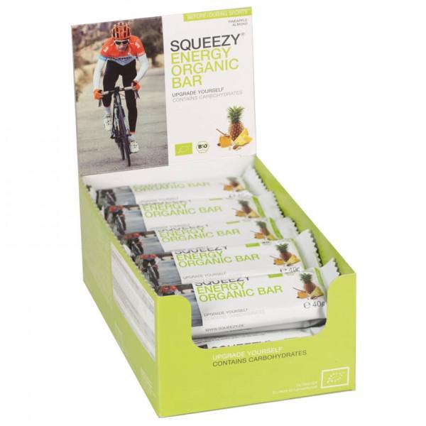 #Squeezy – Energy Organic Bar Ananas-Mandel – Energieriegel Gr 25 x 40 g#