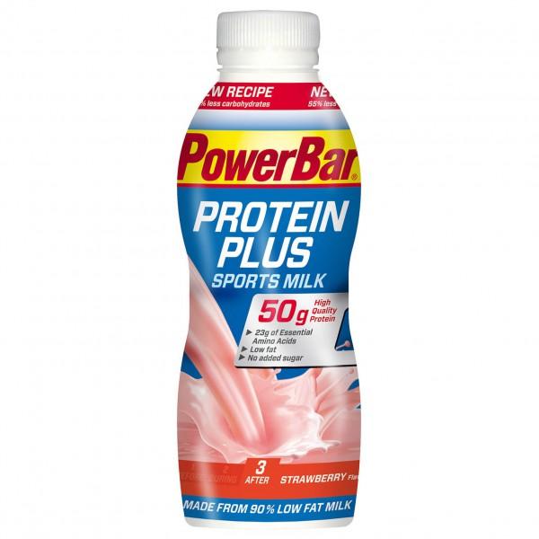 PowerBar - Proteinplus Sports Milk Erdbeer - Milchgetränk Gr 500 ml
