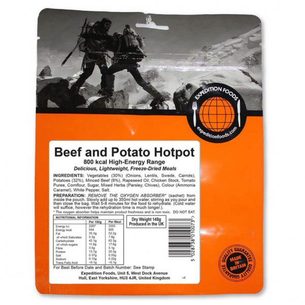 #Expedition Foods – Beef And Potato Hotpot (High Energy) Gr 148 g#