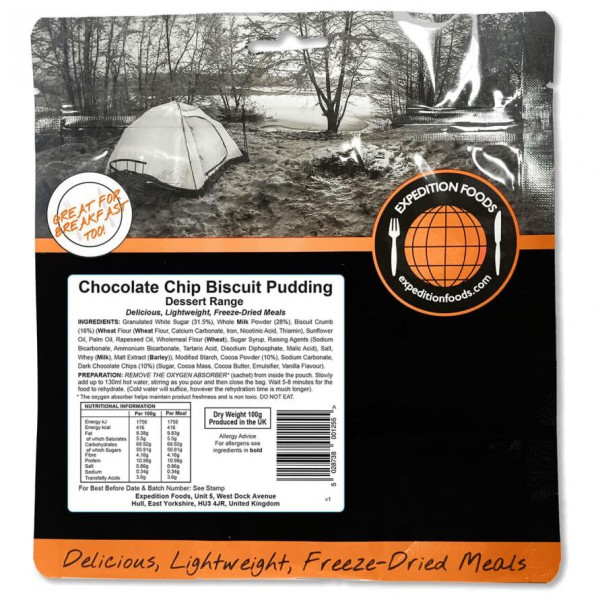 Expedition Foods - Chocolate Chip Biscuit Puddi...
