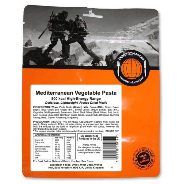 Expedition Foods - Mediterranean Vegetable Past...